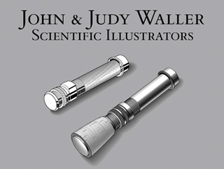 john and judy waller scientific illustrators logo